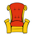 red throne isometric icon cartoon vector image
