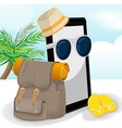 Smartphone Mobile Travel Adventurer Backpack vector image
