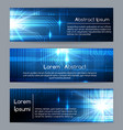 technology web banners or abstract website tech vector image