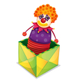 Joker in a box vector image vector image
