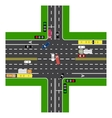 Road infographics Most of the highway vector image