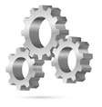 Chrome gearwheel vector image