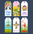 easter holiday greeting tag and gift label set vector image