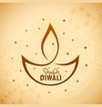 artistic diwali diya with stars vector image
