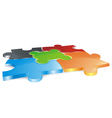 puzzle field vector image vector image