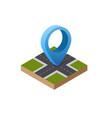 navigation sign and pin symbol on city urban map vector image