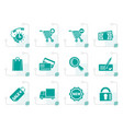 stylized internet icons for online shop vector image vector image