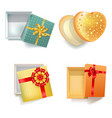 colorful festive gift boxes in bright wrappers vector image
