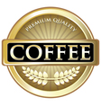 Coffee Gold Label vector image vector image