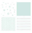 hand drawn seamless patterns vector image vector image