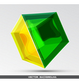 glassy object vector image