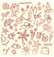 Summer sketches vector image