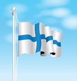 finland flag vector image vector image