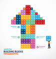 Infographic Template with arrow shape building vector image vector image