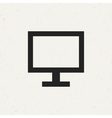 Flat Monitor Icon vector image