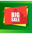 Big sale origami banner vector image vector image