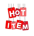 colorful hanging cardboard Tags - hot item vector image