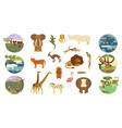 african safari banners vector image