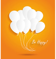 Birthday card with paper ballons vector image