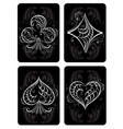 black playing cards vector image