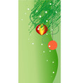 green ornate x-mas backdrop vector image