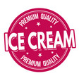 ice cream label or stamp vector image