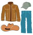 set of men clothes vector image