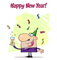 Greeting Of A Man Toasting At A Party vector image vector image