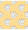 seamless pattern of raccons vector image vector image