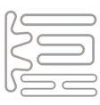 Simple Race Track Shape Set vector image