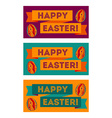 Set of colorful Easter banners vector image vector image
