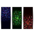 colorful firework banners vector image