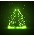 Circuit board background christmas tree vector image