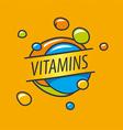 logo vitamins colorful bubbles vector image vector image