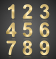 Gold Number Set vector image