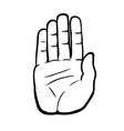 palm of a hand vector image