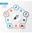 antibiotic icons set collection of pellet peck vector image