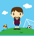funny cartoon soccer player league art vector image