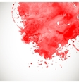 Red splash on white background vector image