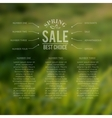 Spring sale best choice lettering vector image