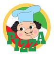 Pizza Chef Label vector image