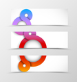 Set of header banner geometric design vector image vector image