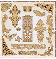 pattern in rococo style vector image vector image