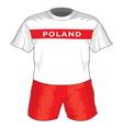 football uniform vector image vector image
