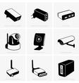 Network equipment vector image