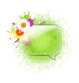 Glass Speech Bubbles With Gerber vector image