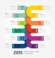 2015 Calendar 2015 Happy new year Calendar vector image
