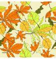 autumn seamless wallpaper vector image