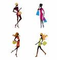 Four women shoping vector image