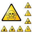 Warning signs symbols vector image